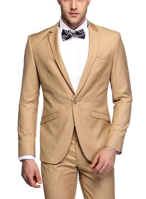 Khaki Prom Suit | My Dress Tip
