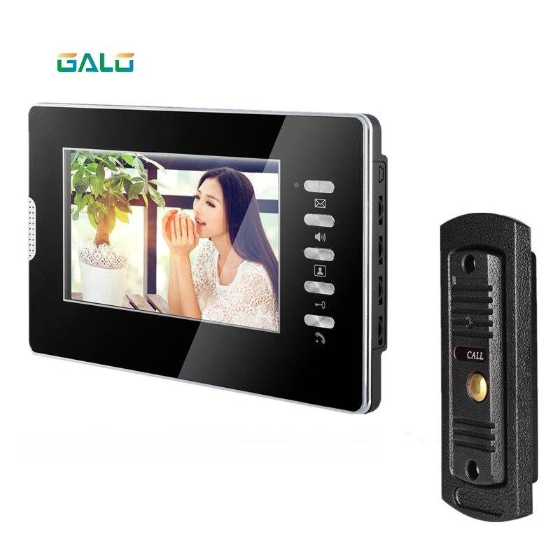 Hotsale Video Door Phone For Villa 7inch Indoor Acrylic Monitor Adjustable Door Camera Night Vision 1V1 Intercom System