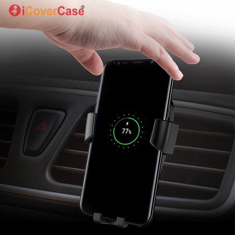 Qi Wireless Car <font><b>Charger</b></font> Receiver Air Vent Mount Holder For <font><b>Samsung</b></font> <font><b>Galaxy</b></font> J3 J5 J7 Pro A3 A5 <font><b>A7</b></font> 2017 2016 Wireless <font><b>Charger</b></font> Stand image