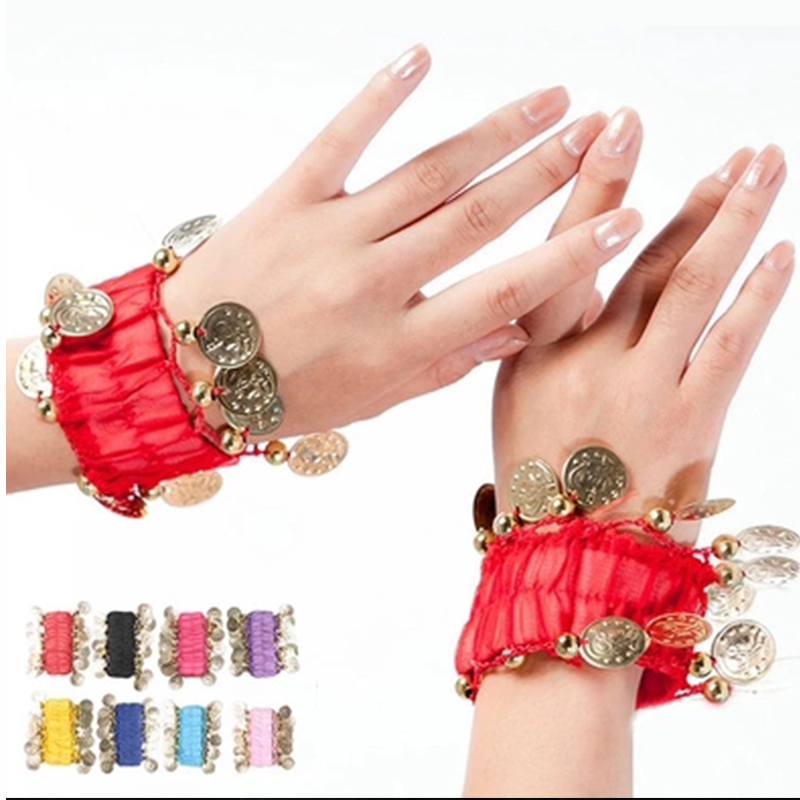 Child Indian Dance Costume Clothes Hand Ring Belly Dance Belly Dance Jewelry Belly Dance Bracelet Huazhung Hand Ring 9 Colors