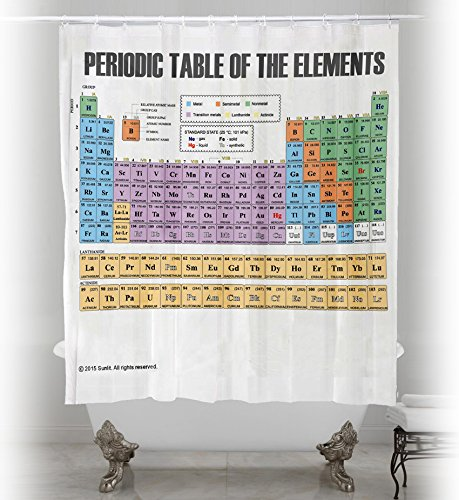 Updated periodic table of elements shower curtain pvc free updated periodic table of elements shower curtain pvc free odorless non toxic fabric polyester bathroom urtaz Image collections