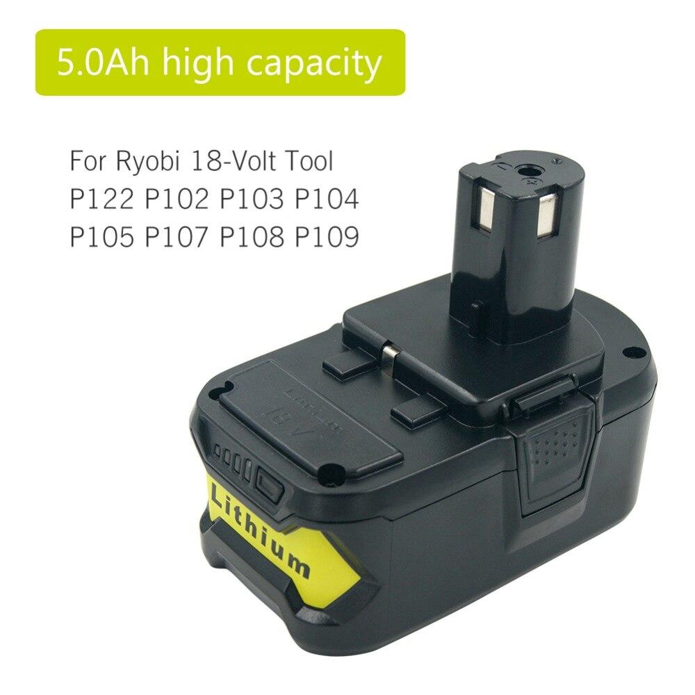2PCS 18V 6,0Ah für P108 Ryobi One Plus Lithium High Capacity P104 P105 P107 Akku