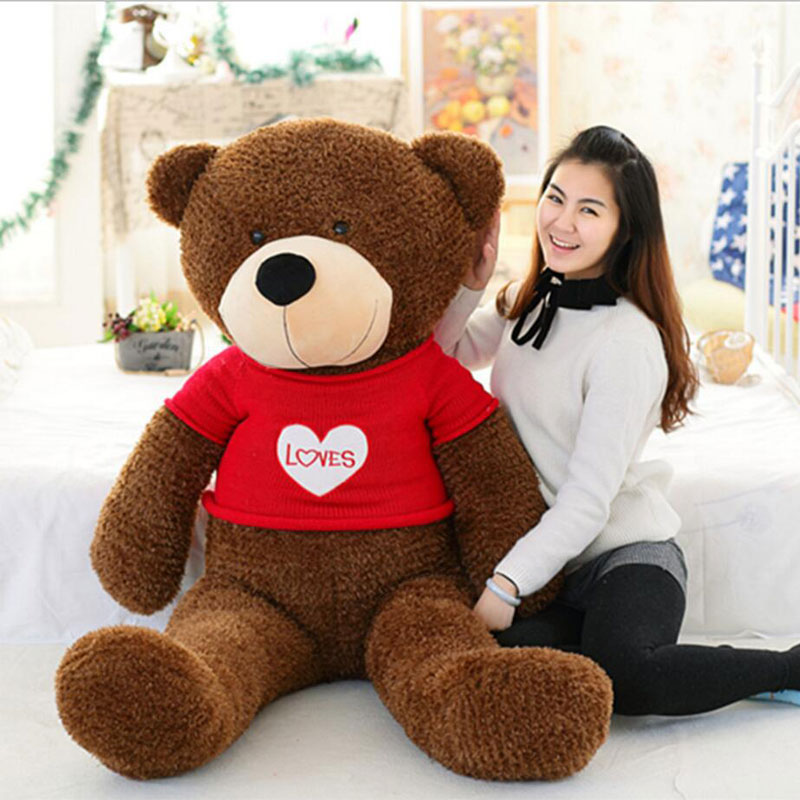 Kawaii 190cm teddy bear plush toys high quality and low price skin holiday gift birthday gift valentine gift stuffed animals недорого