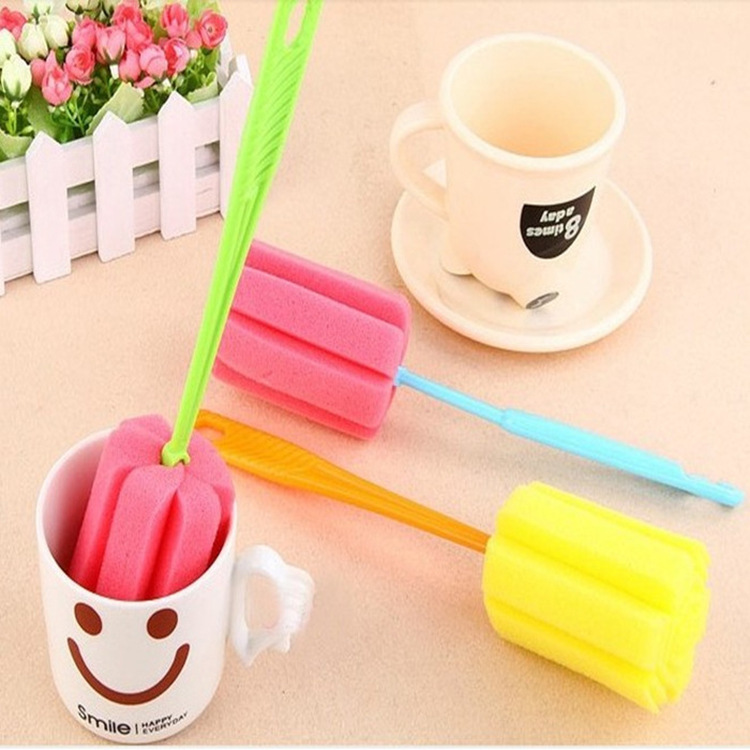Sponge Brush Bottle Cup Glass Washing Cleaning, Kitchen Item Cleaner Tools for Dish