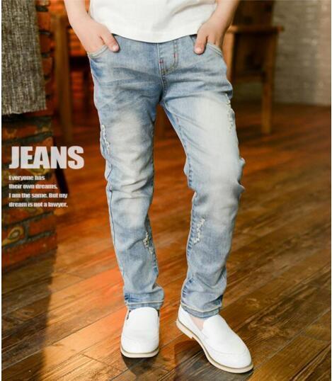 6-13 years 2017 summer boys pants jeans children kids boys jeans trousers denim for big boys pants teenage boys jeans 10 years