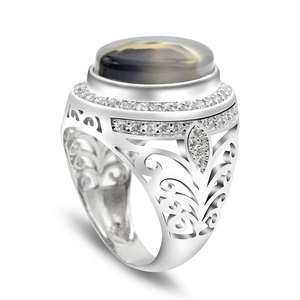 Men Ring 925 Sterling Silver O