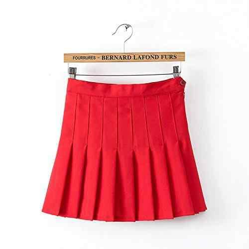 60b3f5848b MISSKY Sporty Dance Skirt Kawaii Furifuri Mini Flare Skirt Women's Pleated  Skirt Uniform Culottes Pants High