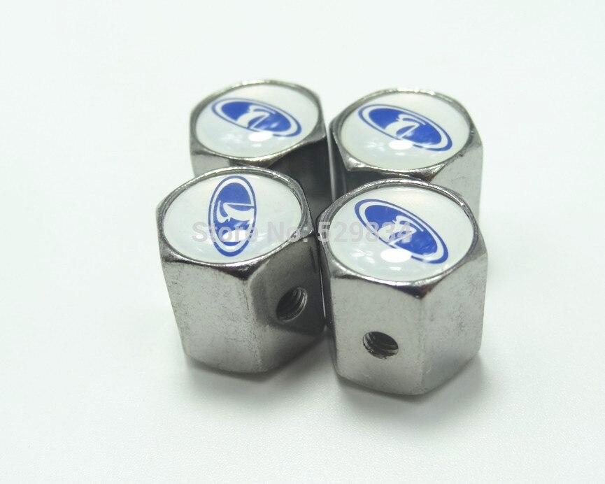 Llave Del Coche de Metal de Válvula del Neumático Capsula Para LADA Unti-polvo C