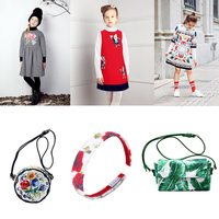 4PCS Children Clothing for Girls Sets Toddler Girl Dresses+Bags+Headband Kids Outfits Baby Girl Clothes Printed Tracksuits 3 12Y