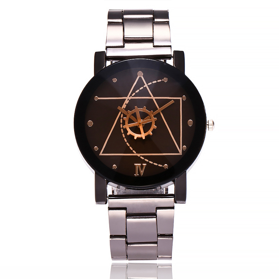 2018 New Hot Sale Silver Stainless Steel Men Lady Casual Geneva Black White Dial  Original Design Unique Lovers Watch Chasy