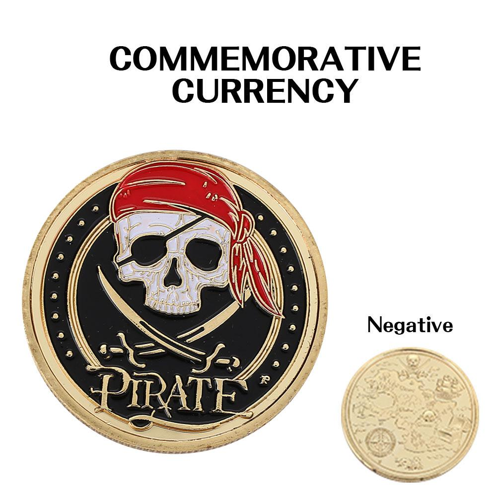 1PC Pirate Pattern Coin Commemorative Coin For Collection Gifts