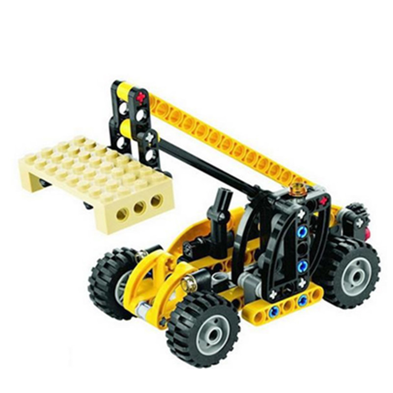 Diy 119 Pcs Technic Series Crane Truck Model Building Set Blocks Brick Children For Toys Decool Gift compatible with engineering 608pcs race truck car 2 in 1 transformable model building block sets decool 3360 diy toys compatible with 42041