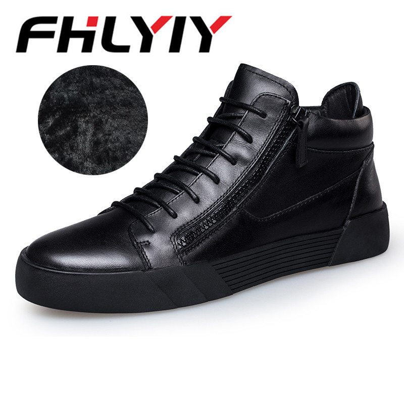 Brand New Arrive Men Causal Shoes Autumn Winter Lace-Up Leather Ankle Boots Shoes Man Casual High Top Leather Boots Botas Milita mulinsen new arrive 2017 autumn winter men