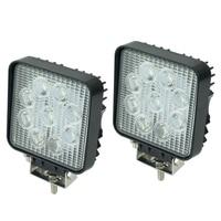 2PCS Square 27W High Power LED Work Lights 60 Degree Flood Beam Lamp Fog Lights For