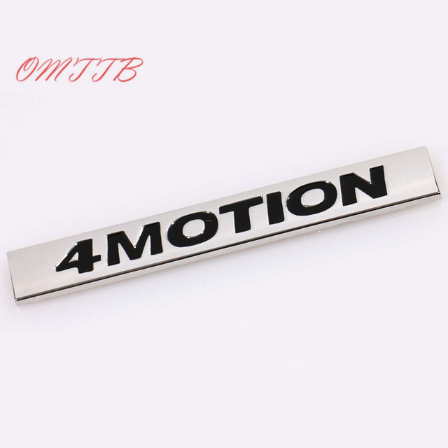 4MOTION Emblem Badge Auto Side Decal Car Sticker For Volkswagen vw Golf 3 4 5 6 7 Polo Tiguan Jetta Passat CC car Styling