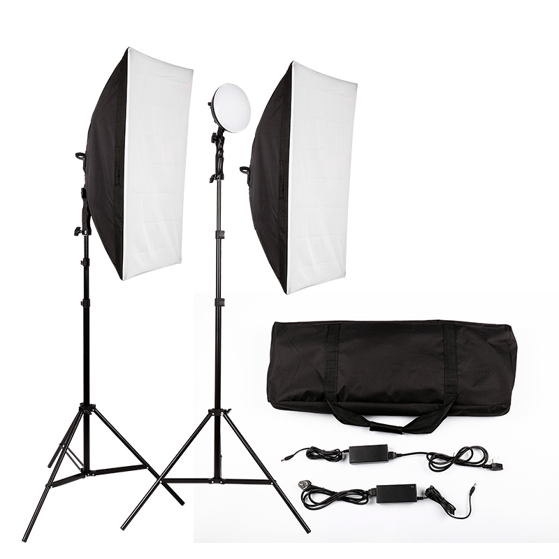 LED Photography Photo Studio Lighting Kit Photo Video Equipment Softbox Light Tent Set with carrying bagLED Photography Photo Studio Lighting Kit Photo Video Equipment Softbox Light Tent Set with carrying bag