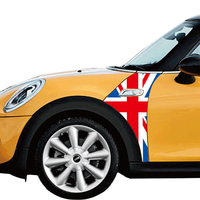 1 Pair Union Jack Car Fender Plate Side Scuttles Trim Decoration Decal Sticker For Mini Cooper
