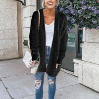 Новые женские осенние кардиганы с длинными рукавами и карманами, свободная повседневная женская куртка, VK-ING