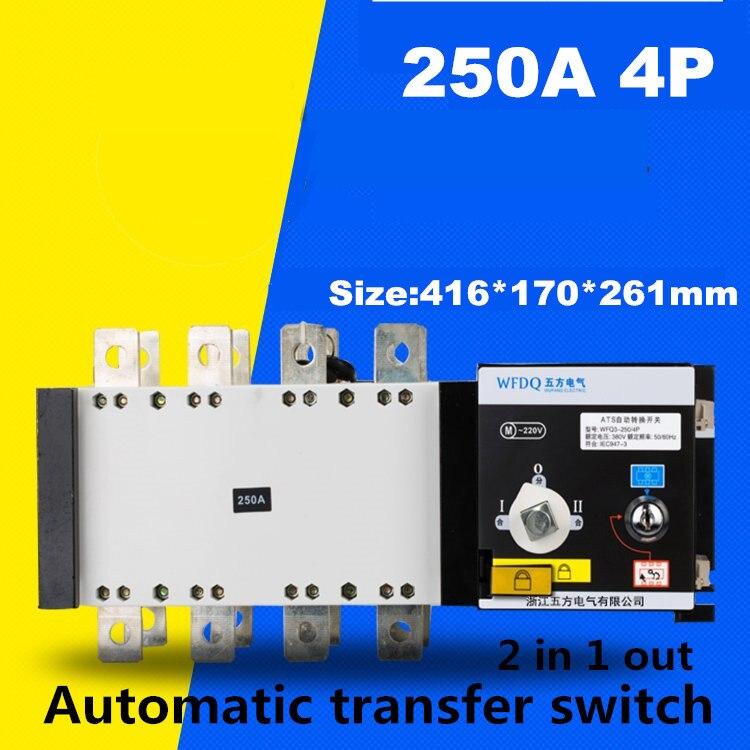 4P 250A 380V Isolation type Dual Power Automatic transfer switch ATS pc grade easypact cvs250f tmd 4p lv525341 4p 160a lv525342 4p 200a lv525343 4p 250a