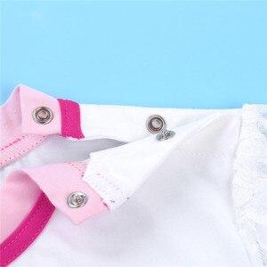 Image 4 - Женский комбинезон с Короткими Кружевными Рукавами, комбинезон с оборками и кружевной юбкой, костюм для взрослых, 2 шт.