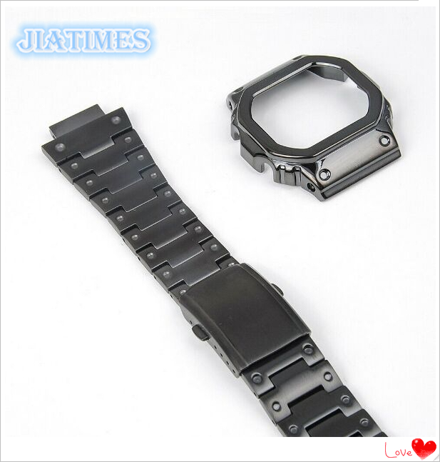 Free Shipping 1 Set Stainless Steel Watchband and Bezel For G-Shock DW5600/5610Free Shipping 1 Set Stainless Steel Watchband and Bezel For G-Shock DW5600/5610