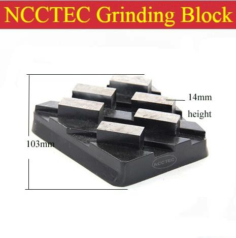 4'' Diamond Welded Metal Bond Horseshoe Grinding Blocks | 105mm Grinding Pads Tools For Surface Flat Coarse Grinding 6 Segments