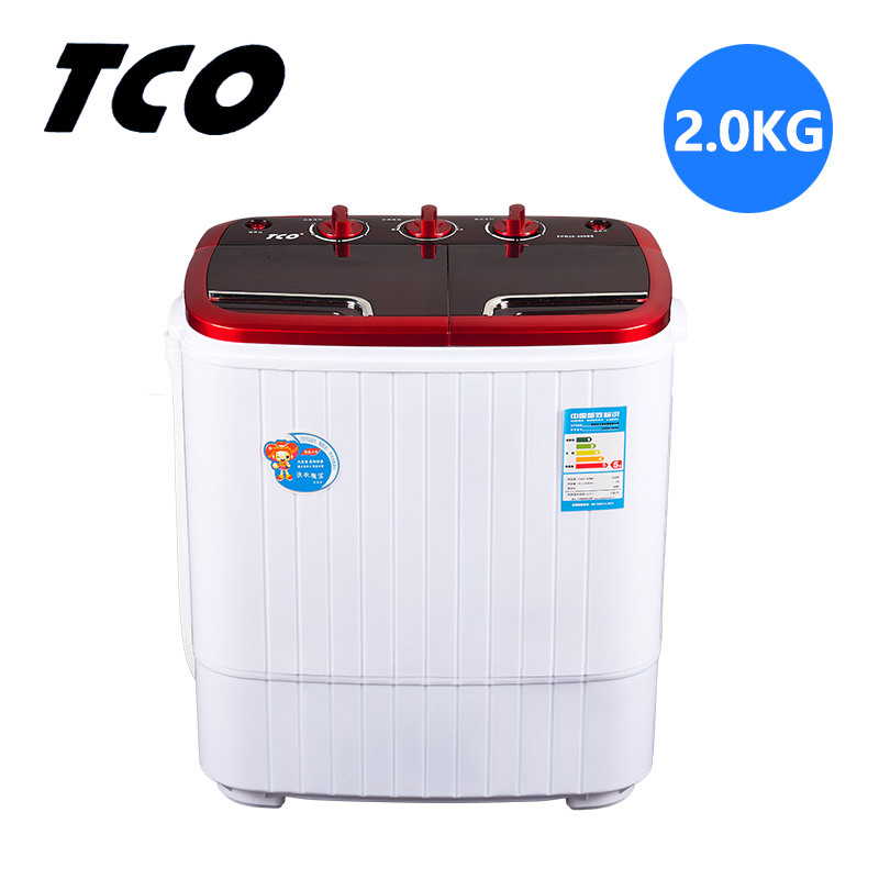 TCO Mini Portable Washing Machine UV Antibacterial For Baby Child Household 2 Barrels Semi-automatic Dehydrator Clothes Washer