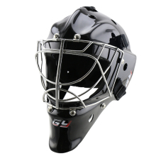 BLACK/WHITE popular ice hockey goalie helmet with strong combo mask ,field goalkeeper equipment