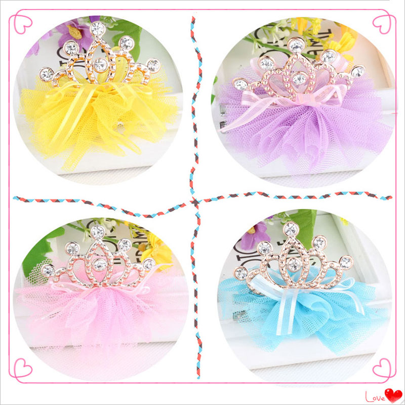 M MISM Lovely Cute Rhinestone Bow Crown Lace Hairgrip for Children Hairpins Hair Accessories Girls Hair Clips Kids Sweet baby cute style children accessories hairpins rabbit fur ear kids girls barrette lovely hair clip