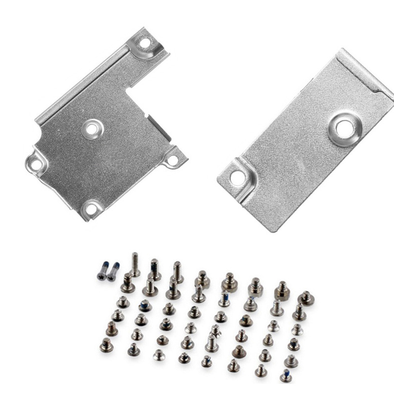 LCD Screen Flex Connector Metal Bracket + Battery Metal Cover Bracket With Full Set Screws For IPhone 6 6s 6s Plus 7 7 Plus