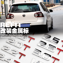 Car Modeling 1.6T 1.8T 3.0T 2.0T Displacement Metal Sticker Turbo Tail Label Alphanumeric 3D