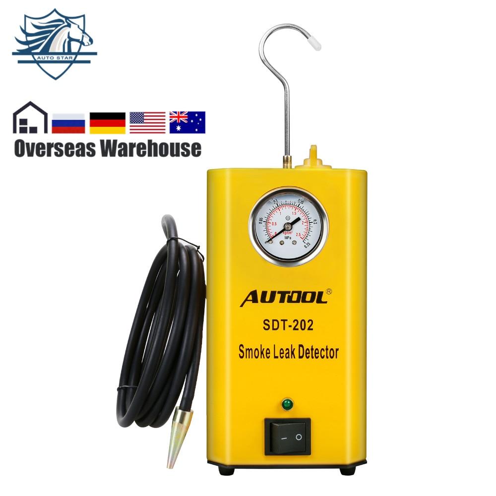 Autool SDT-202 автомобилей Дым машина авто детектор протечек EVAP адаптер и дыма советы. Тесты EVAP, потребление, выхлопных газов, вакуумной линии