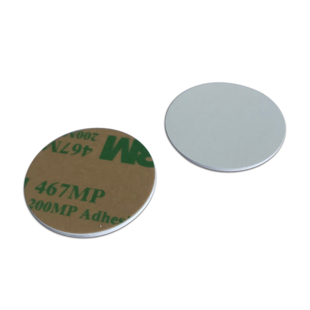 RFID Coin Card 1K With 3M Adhesive Back 25mm Diameter 13.56mhz-10pcs