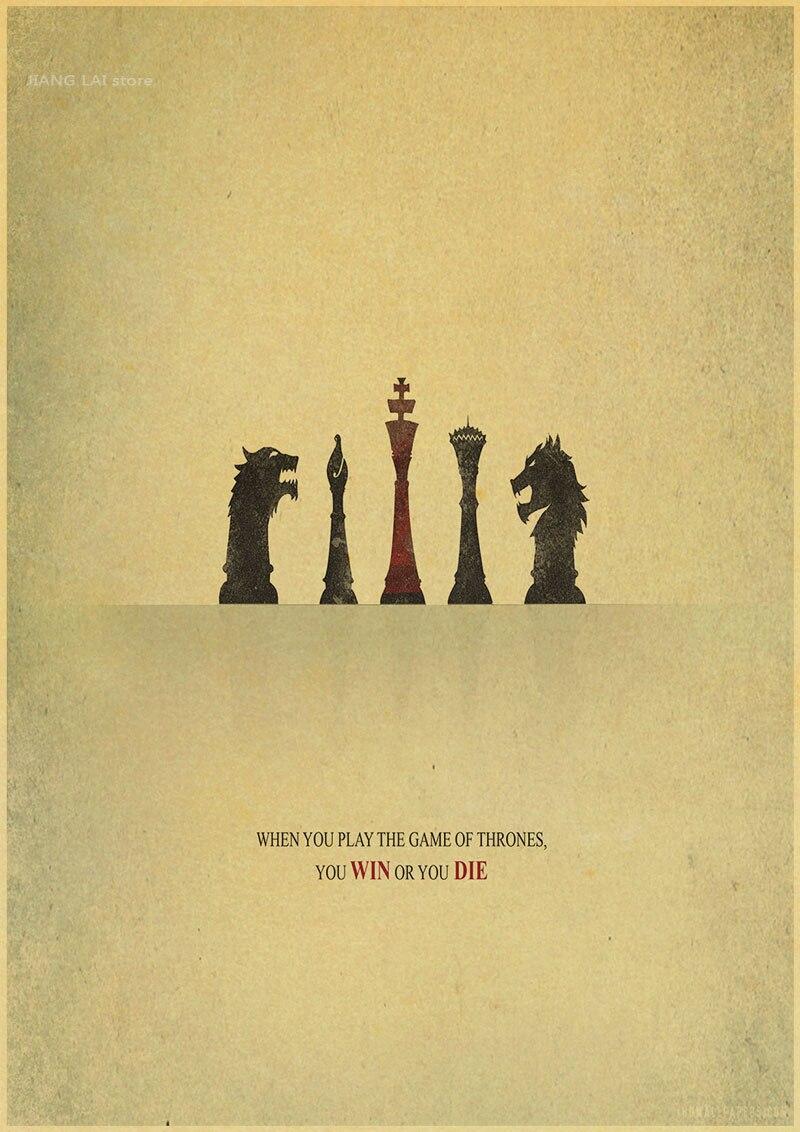 Game of Thrones retro Kraft Paper movie Poster vintage paint living ...