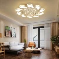YooE современные светодиодные потолочные светильники для гостиная поверхностного монтажа дистанционное управление Кристалл Блеск дома дек