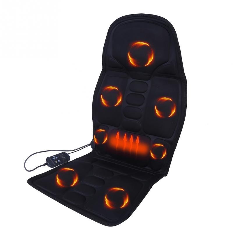 Heated Electric Car Home Back Massage Seat Cushion Vertebrae Neck Lumbar Full Body Relax Massager Seat Cushion Pad Massage Mat