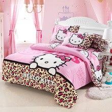 Accueil textiles literie, Enfant modèle de Dessin Animé, Bonjour kitty ensembles de literie comprennent housse de couette drap de lit taie d'oreiller