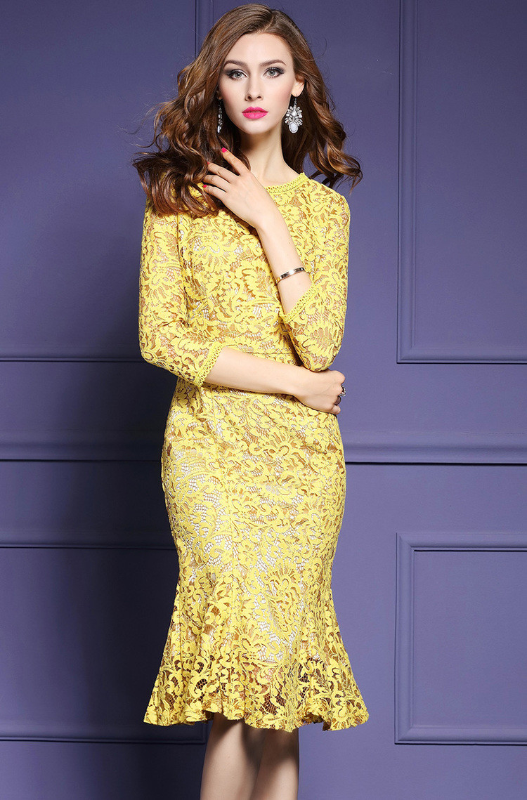 b0cfe11f290 Detail Feedback Questions about Western Fashion Slim Yellow Crochet ...