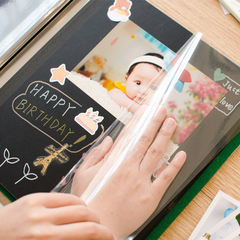 Velvet Self-adhesive Film DIY Photo Album Retro Family Large Capacity 5,6,7,8 Inch Hand-crafted Creative For Lover Baby Wedding