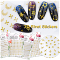 50 Sheets Nail Stickers Mixed Designs Water Transfer Nail Art Sticker Watermark Decals DIY Decoration For Beauty Nail Tools
