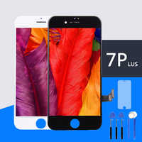 Garde AAA para iPhone 7 Plus Pantalla LCD Pantalla buena 3D Touch digitalizador Pantalla reemplazo blanco película templada + herramientas