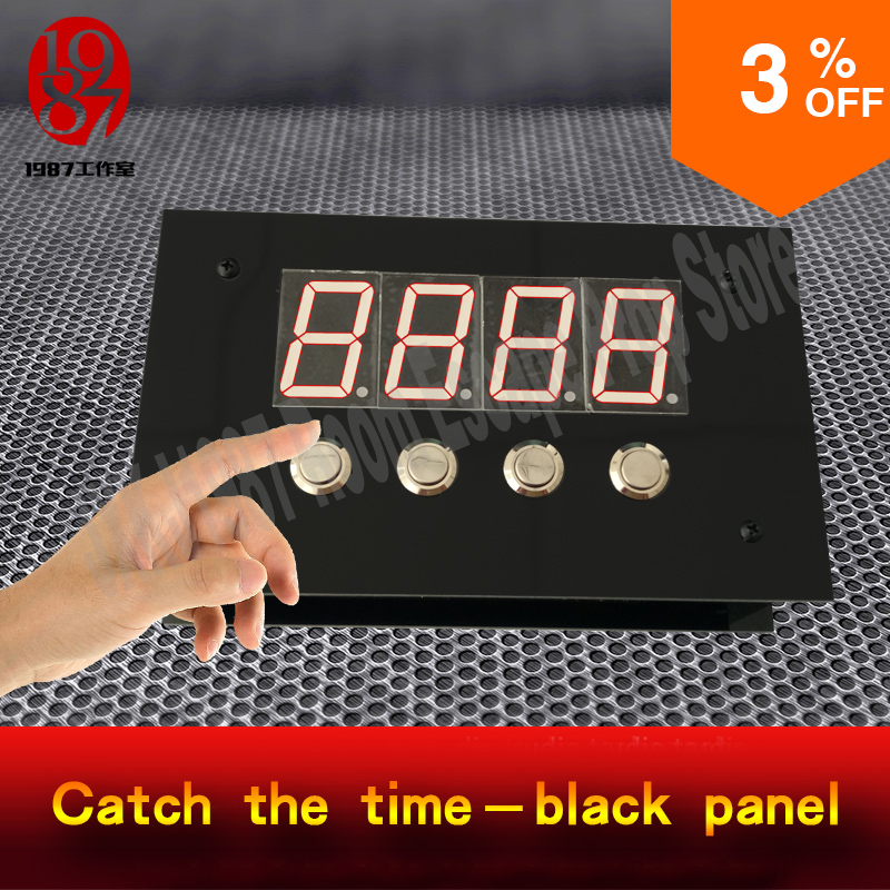 Takagism game live Room escape prop catch the time black panel catch the right digit quickly to unlock from jxkj1987 adventurer real life room escape room keyboard prop input correct password on the keyboard to unlock from jxkj1987 adventure game props