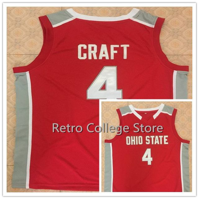 dbea0784b145 Ohio State Buckeyes 4 Aaron Craft Men s Basketball Jersey Stitched  Customize any Number and name