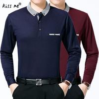 Long Sleeve T Shirt Cotton Clothing Men T Shirt With Pocket Casual Dress Factory Wholesale Plus