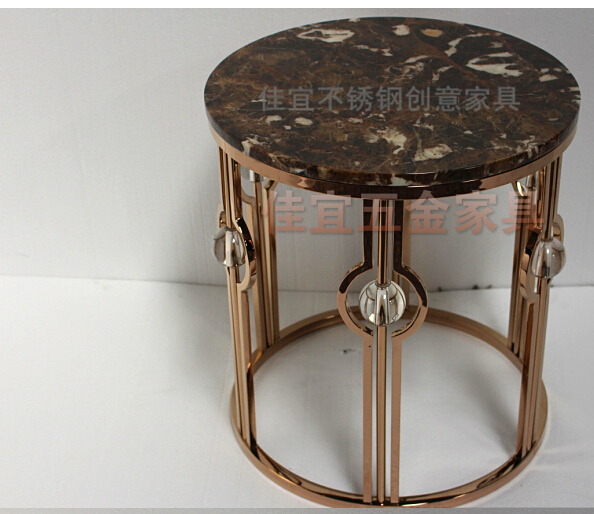 Gold plated stainless steel tea table 1