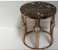 Gold Plated Stainless Steel Tea Table