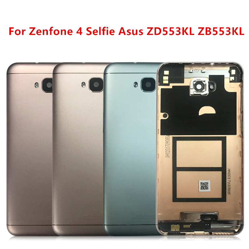 For Zenfone 4 Selfie Mobile Phone Housing For Asus ZD553KL Zb553kl Battery Cover With Volume Power Button Replacement Back Cover