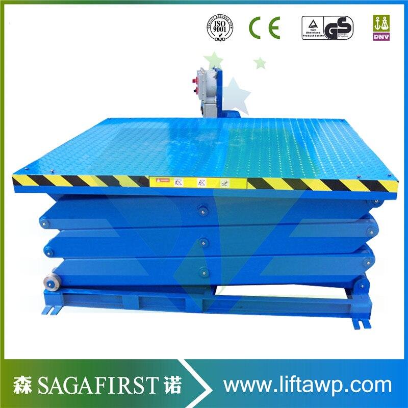 2000kg Hydraulic Scissor Lift Roller Table