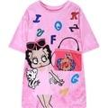 womens cartoon t-shirt 2016 new casual cute graphic Betty girl print short sleeve tee top woman ladies loose tshirt pink T Shirt