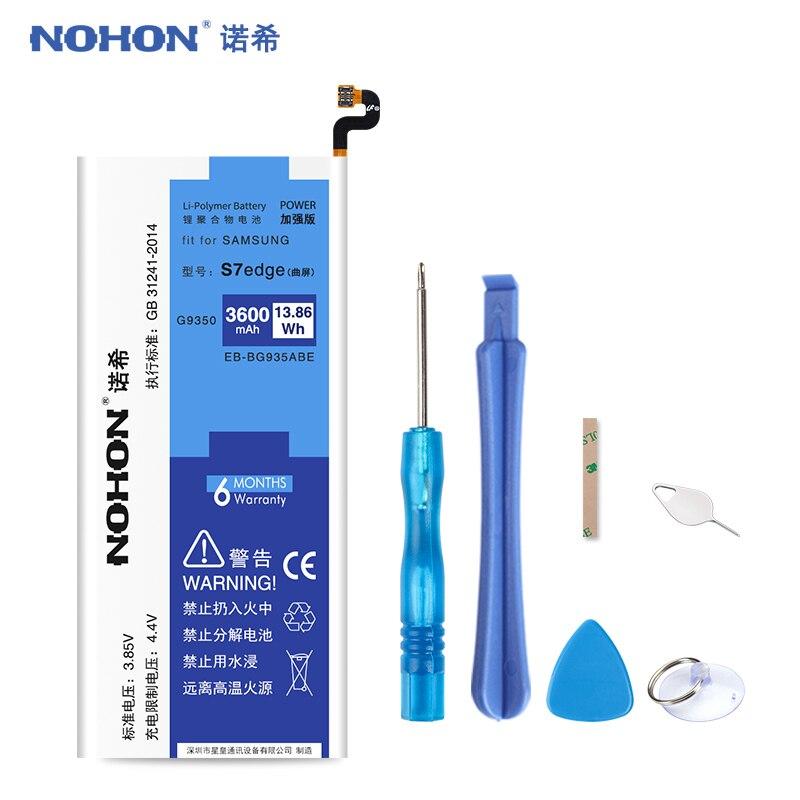 D'origine NOHON EB-BG935ABE Batterie Pour Samsung Galaxy S7 bord G9350 G935 G935F G935FD G935W8 S7edge 3600 mah Remplacement Bateria